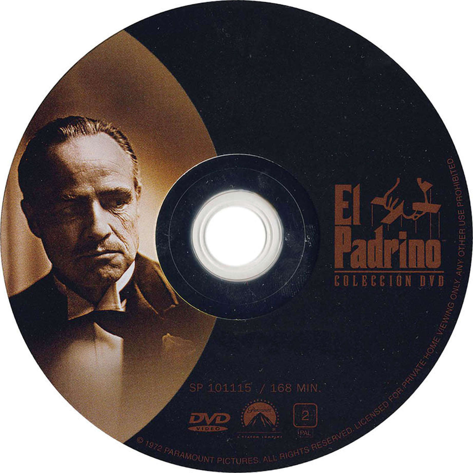 El Padrino The Godfather DVD Label