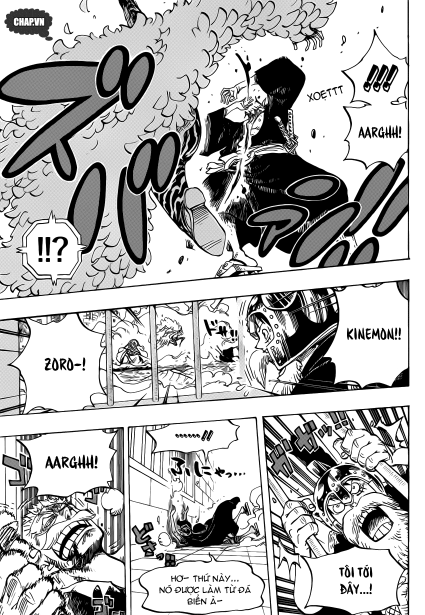 One Piece Chapter 730: Ba lá bài 006