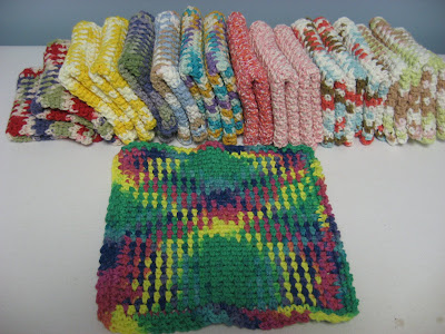 Summer Crocheting ~ More Cotton Dishcloths/Washcloths