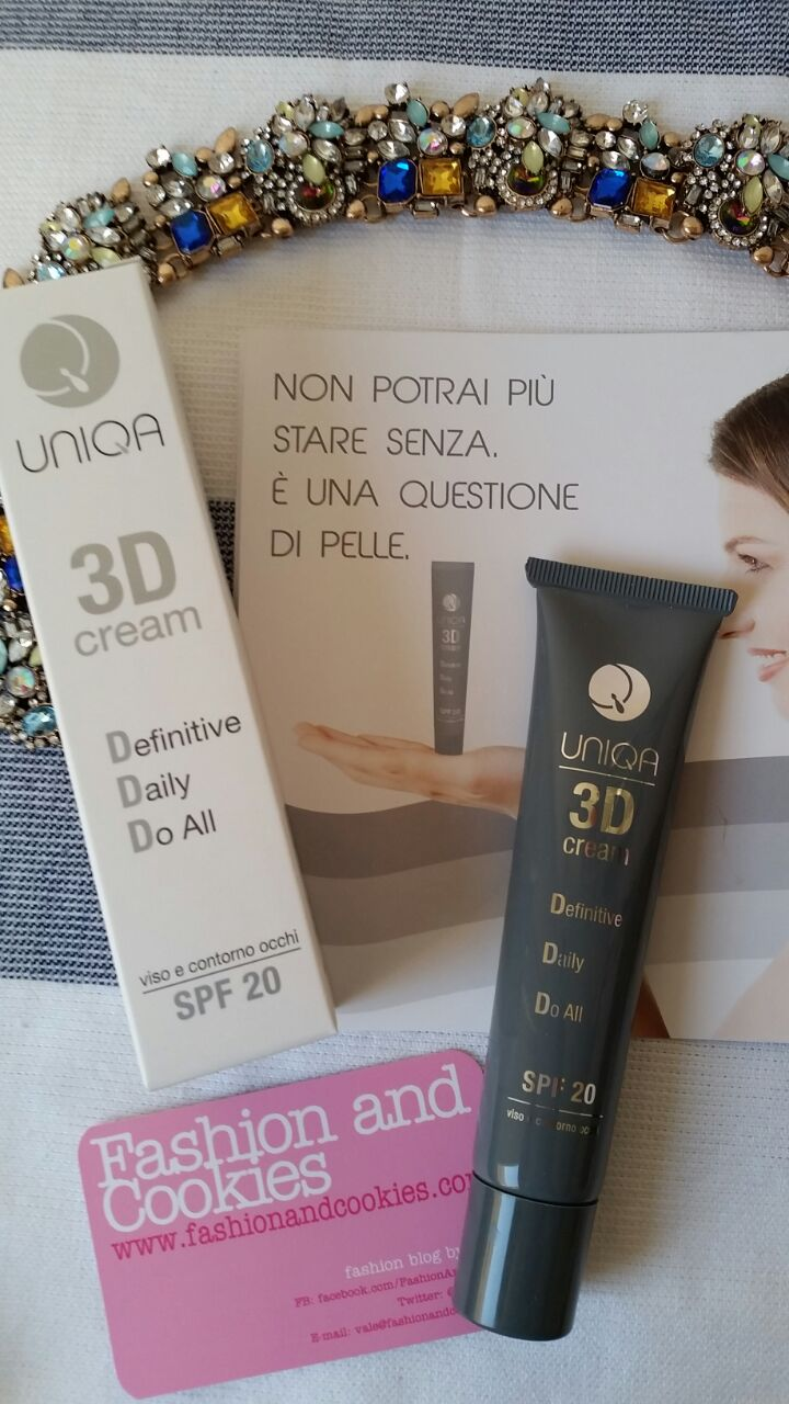 Uniqa by Pea Cosmetics products review: Uniqa Sun and Uniqa 3d cream on Fashion and Cookies beauty blog