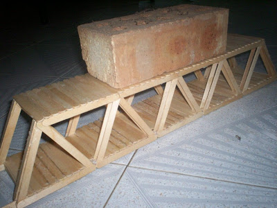 how to build i beams with popsickle sticks