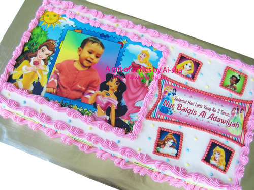 Birthday Cake Edible Image Disney Princess Ai-sha Puchong Jaya
