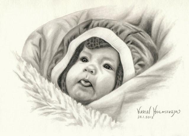 barn blyertsteckning