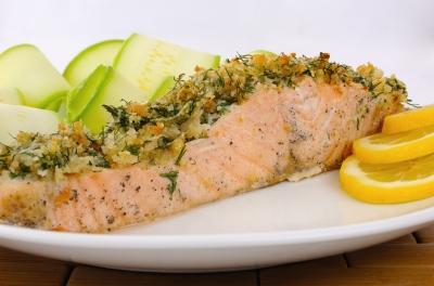 salmone marinato al cartoccio