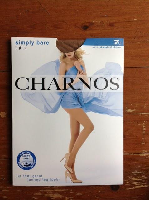 CHARNOS SIMPLY BARE PANTYHOSE 7 DEN SHEER LIGHT SUMMER NYLONS TIGHTS TAN