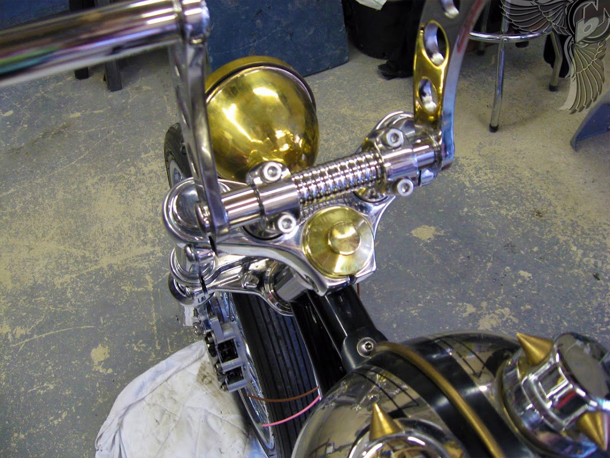 yamaha xs650 bobber brass accents | bobbed to the bone