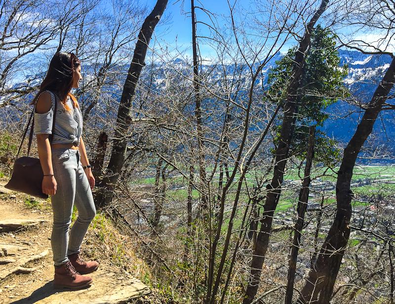 hiking up Harder Klum in Interlaken Switzerland