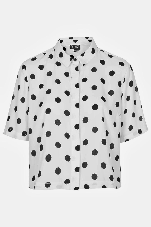 topshop spot shirt