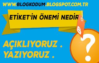 blogger etiket
