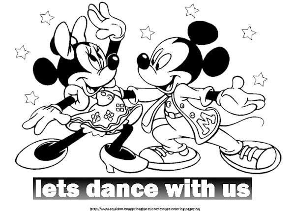 Baby Mickey and Minnie Mouse Coloring Pages