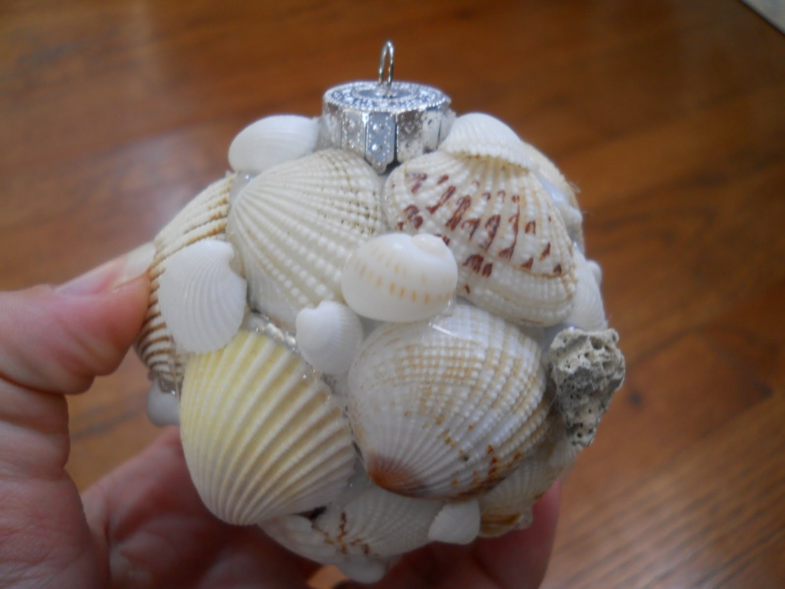 One woman 39 s walking shoes seashell christmas ornament for Ornament ideas