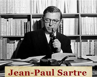 Σελίδες για τον Γάλλο φιλόσοφο Jean-Paul Sartre, 1905-1980,