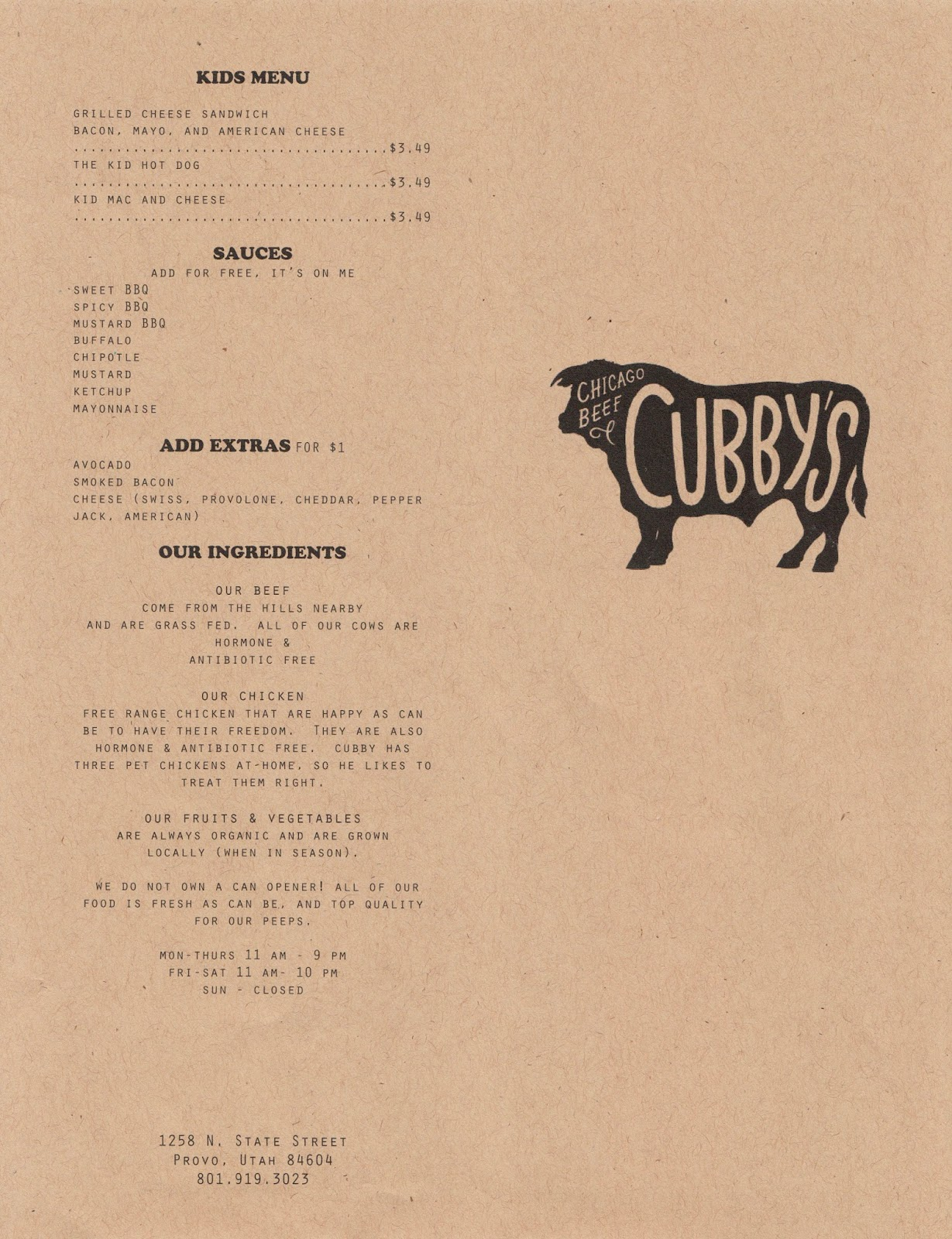Cubbys Chicago Beef