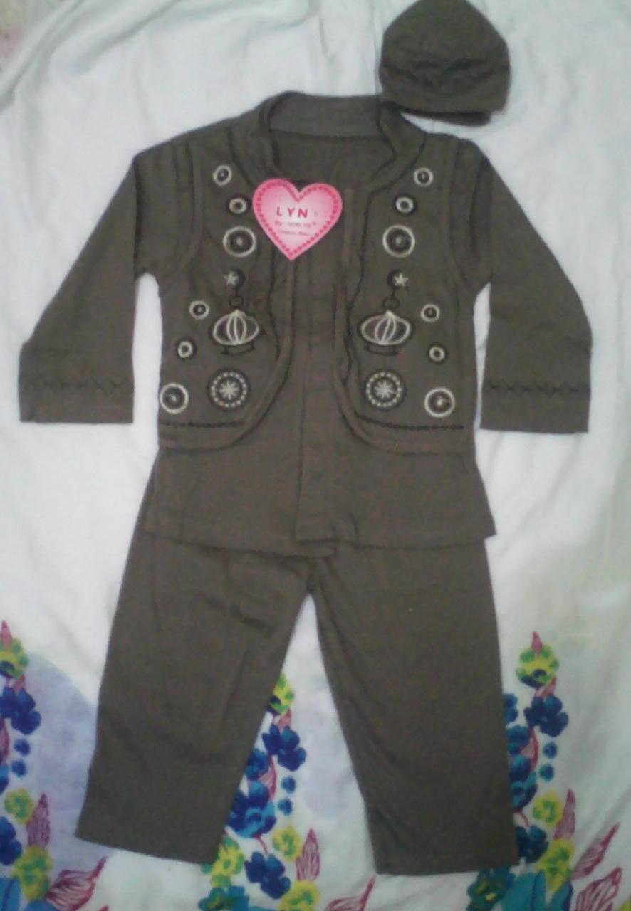 Baju Muslim Koko Anak 2-3 tahun