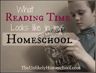 I want my kids to develop a love of reading.  I want my home to be a place where reading isn't just another assignment to check off a list, it is an integral part of our daily culture...a large piece of the rhythm of our days.