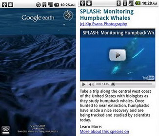 Google Earth 1.1 for Android comes with 'Explore the Ocean'