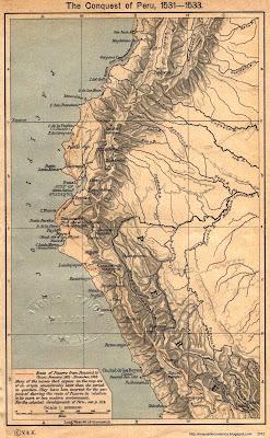 Mapa de la Conquista de Perú, 1531