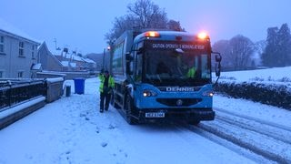 Bin Lorry in snow