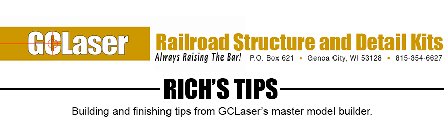 Rich's Tips for Creating Model RR Structures