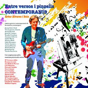 """PORTADA DEL FUTUR CD """"Entre versos i pinzells contemporanis"""""""