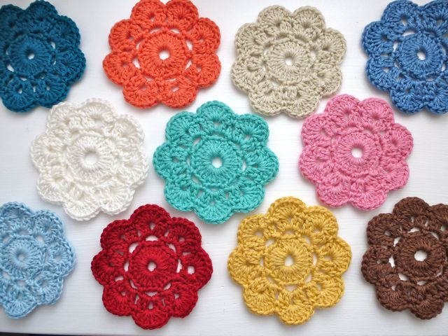 Crocheting A Flower : My Rose Valley: The Maybelle Crochet Flower