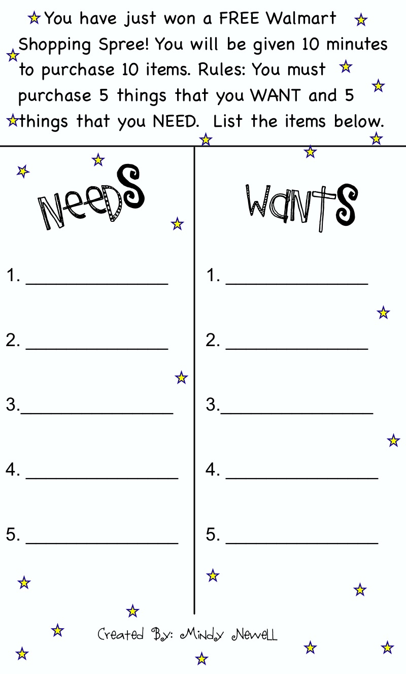 worksheet Wants And Needs Worksheet wants and needs worksheet praradio iintegratetechnology scarcity