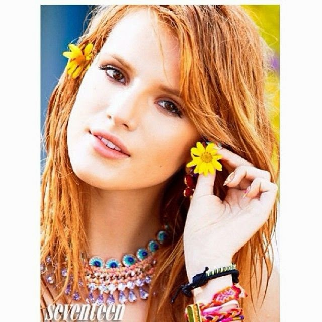 It's not her first time appearance for Seventeen, but it's the first moment for Bella Thorne to showing her greatest skin in Bikini to the magazine for June/July 2014 Issue.