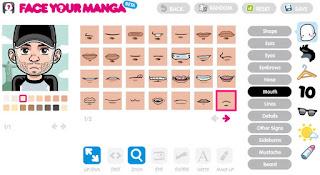 бесплатный онлайн редактор Face Your Manga для создания аватарок
