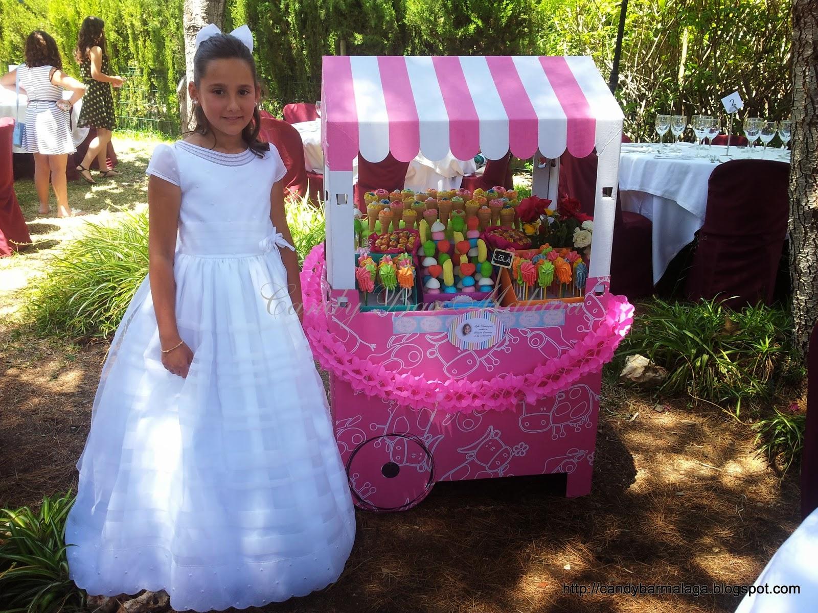 Candy bar m laga carrito de chuches comuni n de lola - Carro de chuches para cumpleanos ...