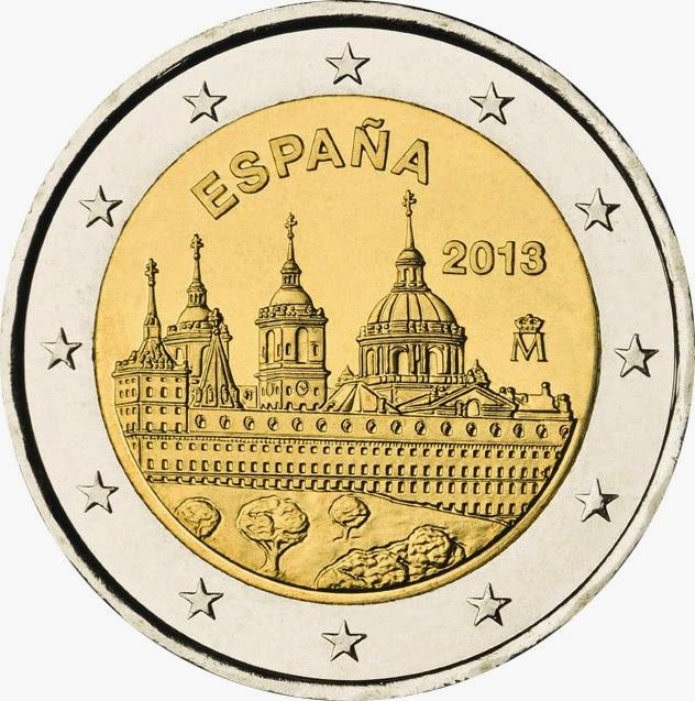 2 euro Spain 2013, San Lorenzo del Escorial Monastery