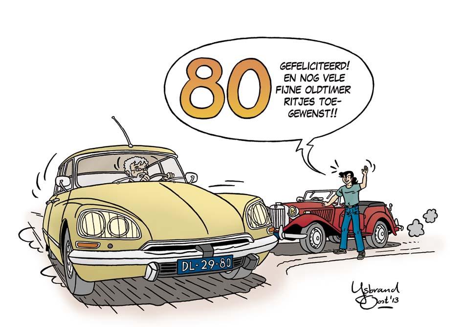 gefeliciteerd oldtimer auto