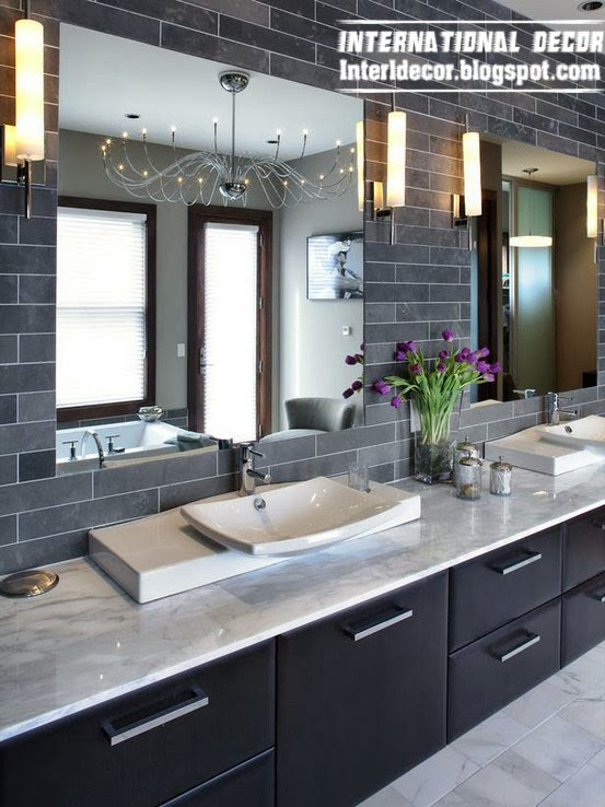 Bathroom Mirror With Black Cabinets, Bathroom Mirrors