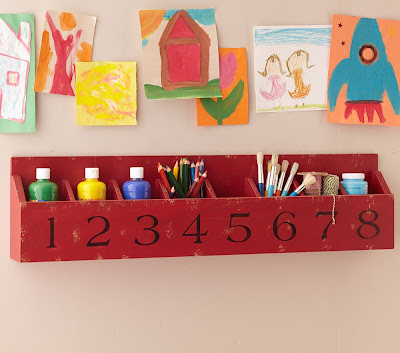 cubby shelf, with numbers