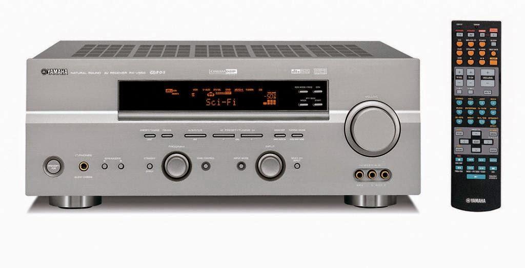 Yamaha rx v550 av receiver audiobaza for Yamaha rx v450 av receiver price