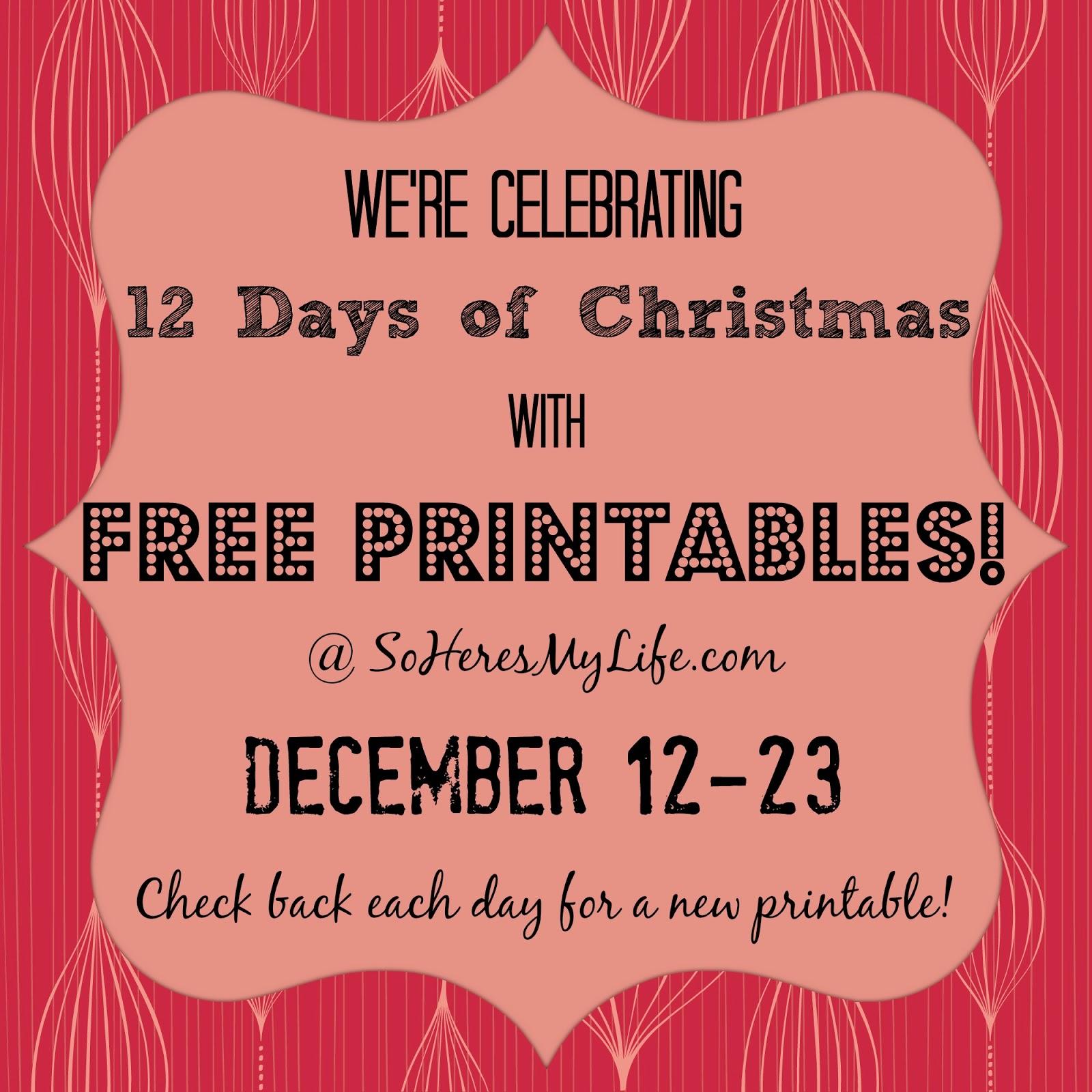 Ho ho holiday printouts to color - Ho Ho Ho Printable 12 Days Of Christmas Printables Day 7