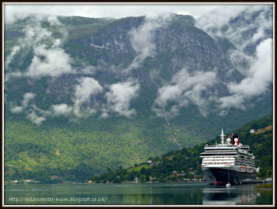 cruising Norwegian fjords on Cunard