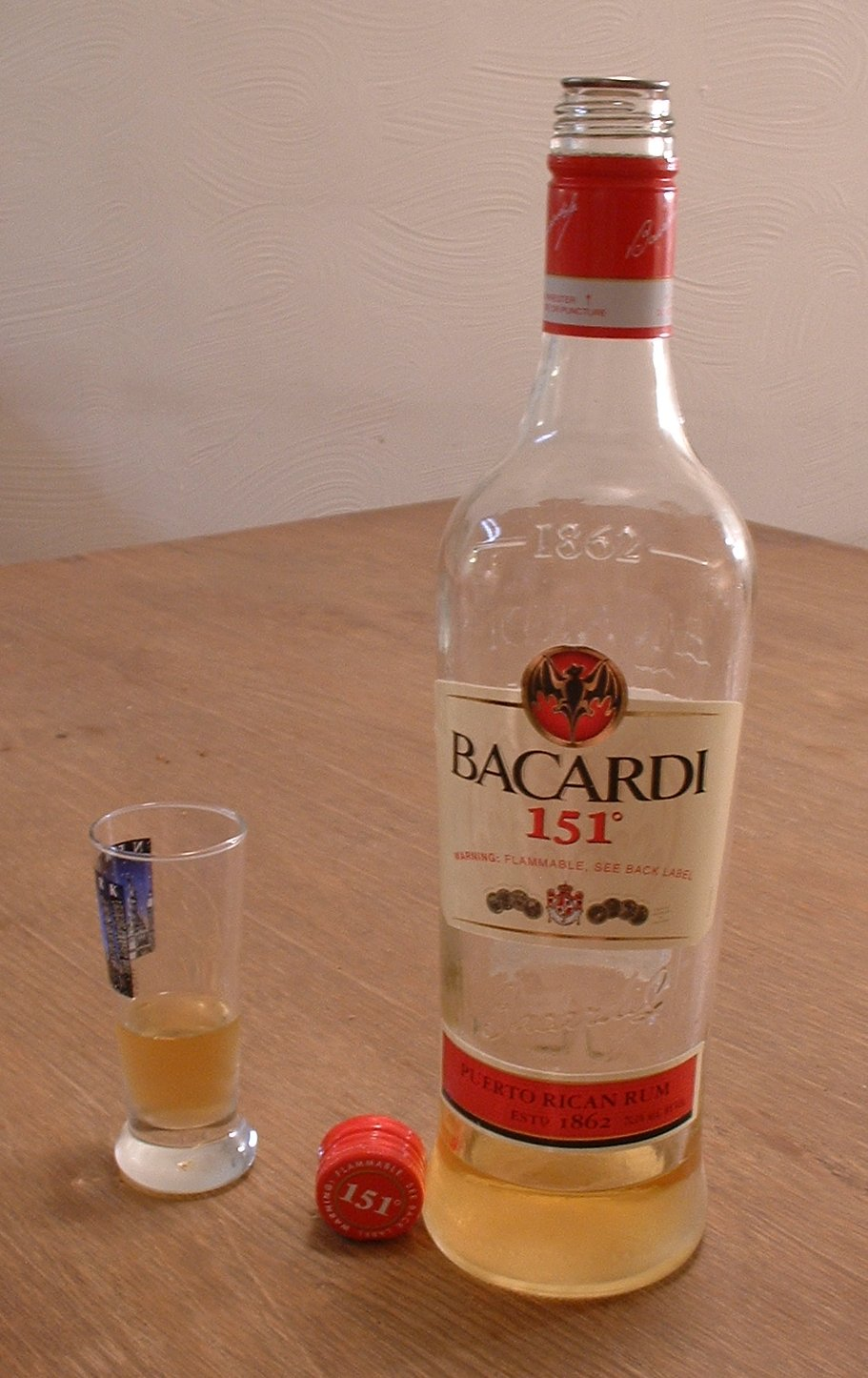 How many shots of bacardi 151 to get drunk