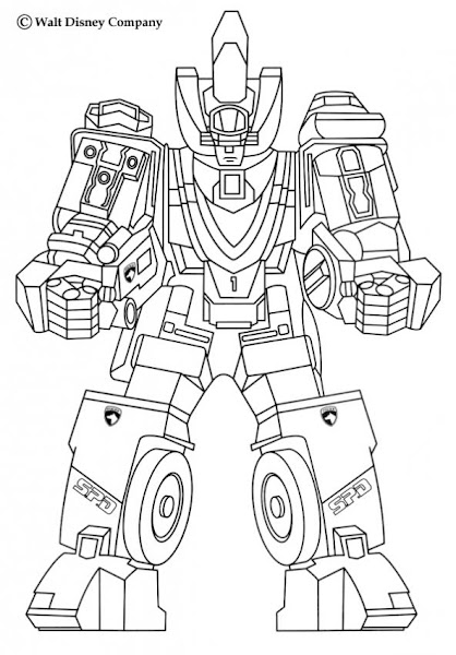 power ranger robot coloring pages - photo#5