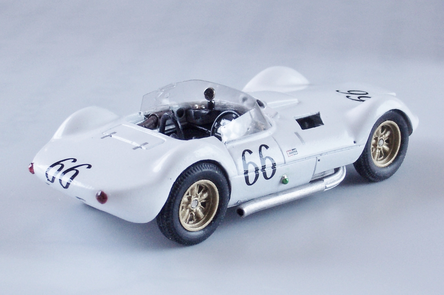 1 43 Chaparral Models Race Car Dash Wiring Behind The Using Aluminium Piping Of Appropriate Dimensions Also With Connecting Instruments To Front Bulkhead 4 Perforated Side