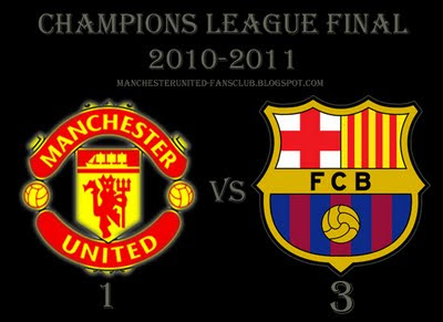 Manchester United vs Barcelona Champions League Final Result