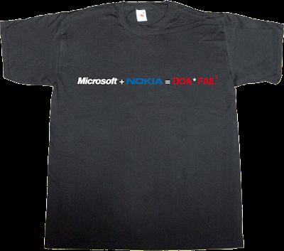microsoft epic fail nokia doa windows mobile 7 t-shirt ephemeral-t-shirts