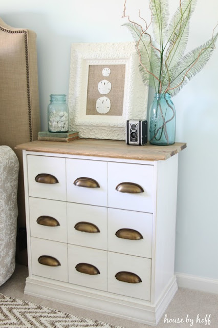 IKEA rast white with brass