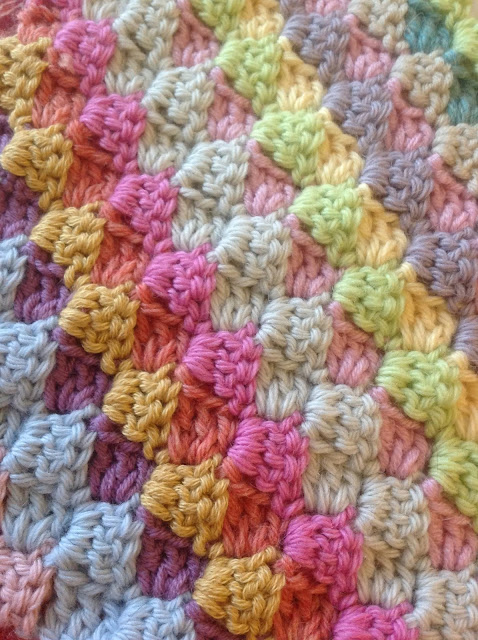 Crochet Stitches C2c : or you can just make a large striped piece...square or rectangular
