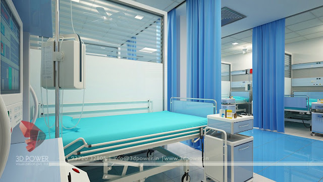 3d contemporary hospital interior