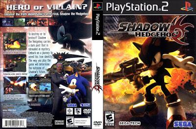 Jogo Shadow The Hedgehog PS2 DVD Capa