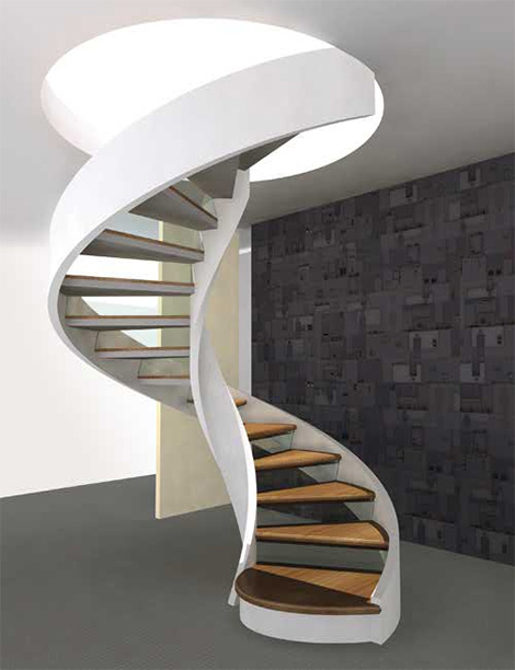 Staircase with shape spiral design design modern home for Spiral staircase design plans