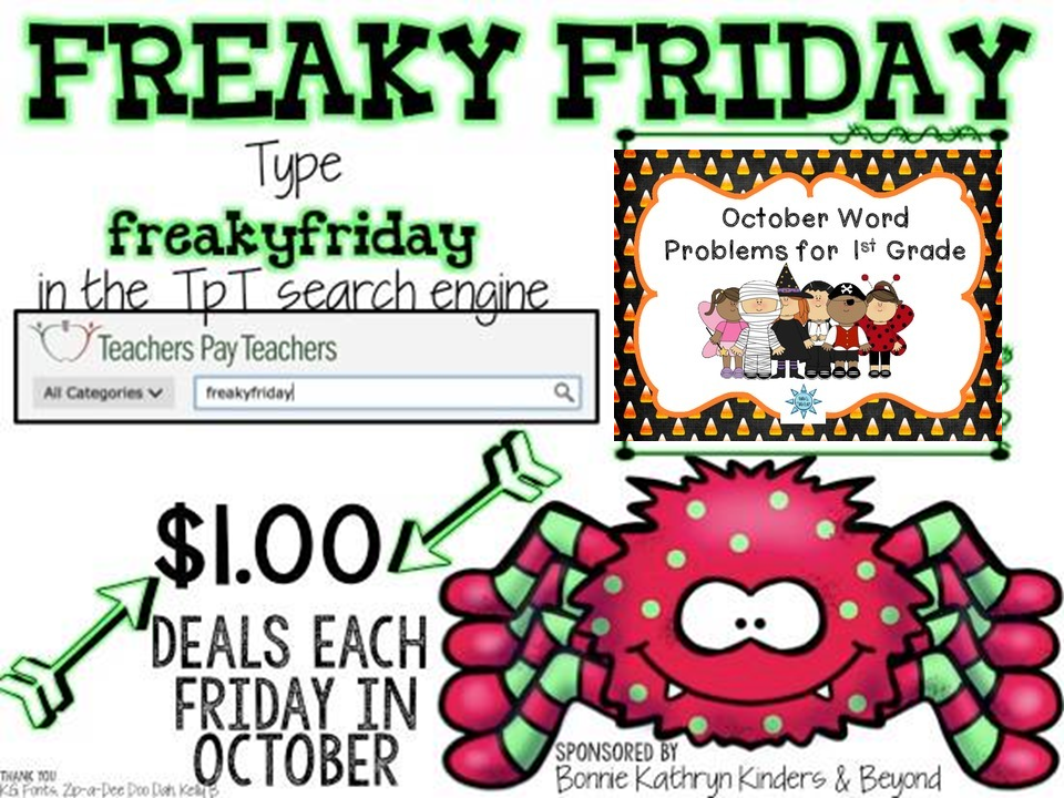 http://www.teacherspayteachers.com/Product/October-Word-Problems-for-1st-Grade-Halloween-TASK-CARDS-1319554