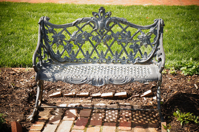 stylish metal park bench