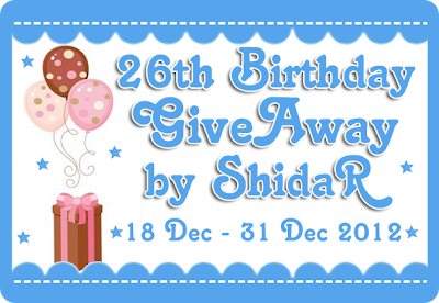 http://www.duniashida.com/2012/12/26th-birthday-giveaway-by-shidar.html