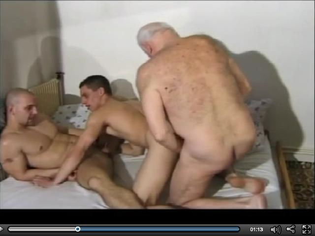 Grandpa fucking two young gays - BİG GAY 4 ME